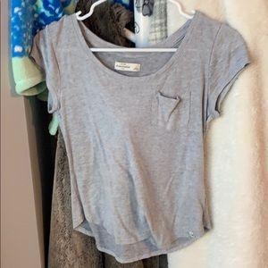 Grey Abercrombie kids shirt